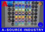 2cmの直径の注文のレーザー光線写真ステッカー反偽造ペット材料