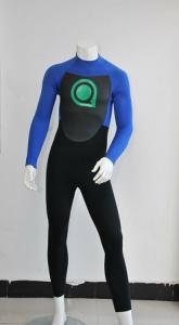 China Blue / Black Mens and Women Full Body Wetsuits for Surfing With Mesh Skin trim on chest on sale