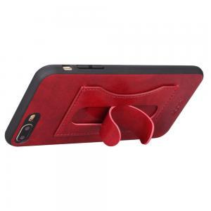 Quality Ultra Thin Red Iphone 7plus 8plus Smartphone Back Cover Id Card Slot Support for sale