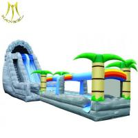 China Hansel  inflatable trampoline kids playing toys yard inflatable tree slide on sale
