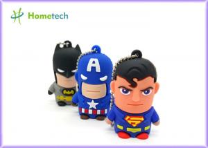 China Hero Series Cartoon Usb Flash Memory , Usb 2.0 Memory Stick Pvc Or Soft Plastic Material on sale