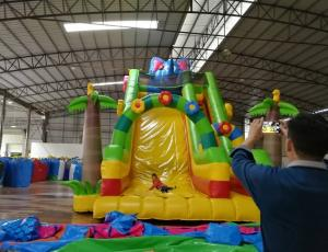 China cheap infatable slide with slide/commercial inflatable slide for sale on sale
