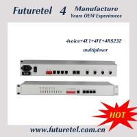 Fiber Optical 4voice 4E1 interface 4Ethernet 4RS232 multiplexer