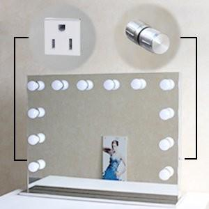China Hollywood Style Vanity Led MakeUp Mirror With 10 Dimmable LED Light Bulbs And Flexible Strip on sale
