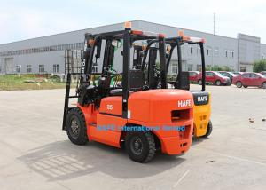 China OEM 3.5T Warehouse Forklift FD35 , Diesel Operated Forklift 2 Stage 4m Mast on sale