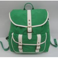 China Casual backpack with nylon fabric and cotton webbing shoulder strap, metal buckle on sale