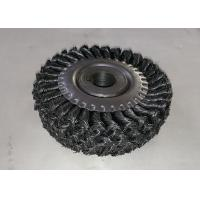 Four Section Knotted Wire Wheel Brush Roller 150mm OD For Rust Removal