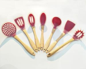 China Food Grade Silicone with Slotted Turner/Flipper, Spoon, Spatula, Ladle, Pasta Server, Strainer on sale