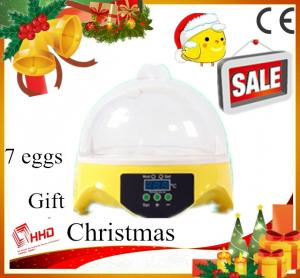 China Hot Smallest CE approved automatic 7 eggs poultry incubator machine for sale on sale