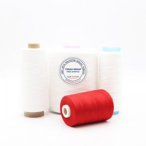China Dyeable Z Twisted Polyester Staple Raw White Yarn Industrial Sewing Thread on sale