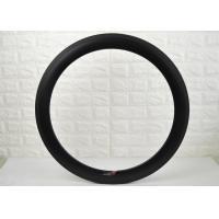 Aero 60mm Tubular Carbon Fiber Road Bike Rims , Carbon Disc Rims Matte / Glossy Finish