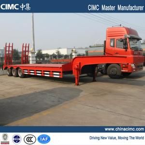 China tri-axle tri-axle 40 ton semi low bed truck trailer on sale