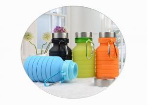 China Food Grade Silicone Sports Bottle/ Outdoor Silicone Folding Kettle For Gifts on sale