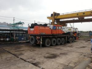 China Tadano TG-1500E Used Truck Crane 150 ton truck crane year 1995  133967km on sale