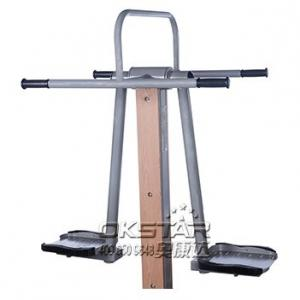 China china outdoor park gym equipment  park wood double pendulum on sale