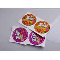 China Personalized printing permanent adhesive hologram vinyl candy box packaging sticky labels on sale