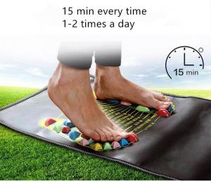 China Acupuncture Cobblestone Colorful Foot Reflexology Walk Stone Square Foot Massager Cushion for Relax Body on sale