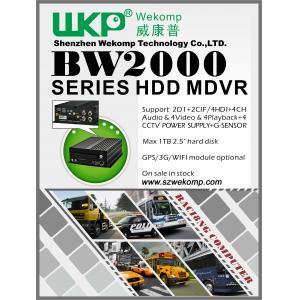 China vehicles audio recorder car dvr car black box 4 channel 3G Mobile DVR on sale