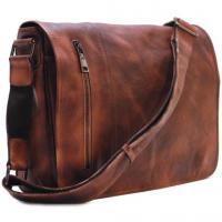 China Men's Distressed Full Grain Leather Messenger Bag, Leather Bag, Cross Body Bag, Briefcase on sale