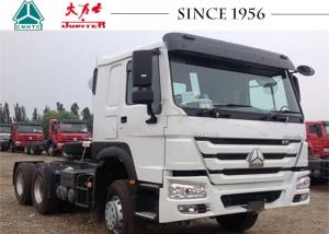 China Howo Sinotruk 6x4 Tractor Truck , Tractor Head Trailer Oil Saving For Fuel Transport on sale