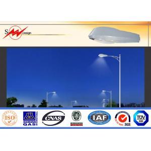 China 6m Single Arm Solar Street Light Poles , Galvanized Road Light Poles IP65 on sale