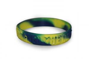 China Youth Embossed Silicone Wristband Bracelet Blended Color , 202 x 12 x 2mm on sale