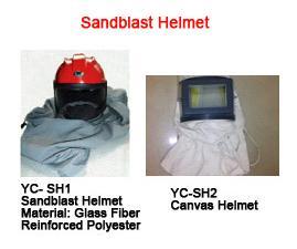 China Sandblast helmet sandblasting hood safety helmet canvas helmet safety cap for sandblasting on sale