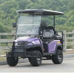 Carro de golf de cuatro personas de la rueda eléctrica del combustible 4 con Seat posterior, color púrpura