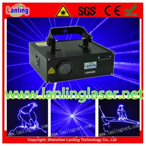 China 500mW Blue 10kpss SD Card Animation Laser Light on sale