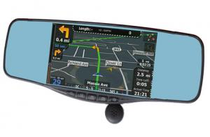 China rearview mirror lyrics+Radar detector+bluetooth+gps+speed recorder+backup camera+FCC,CE,ROHS supplier