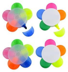 China flower shape highlighter good cheap unique promotional gift items 5 colors highlighter on sale
