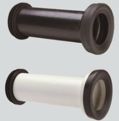 China Straight Toilet Drain Pipe Small Friction Resistance Black And White Combination on sale