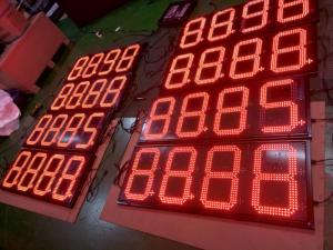 Outdoor Red Green White Color LED Oil Price Display Sign for Gas