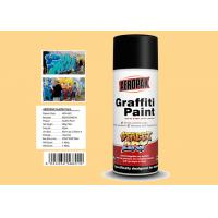 Cream Yellow Color Graffiti Spray Paint Acrylic Material For Decorating