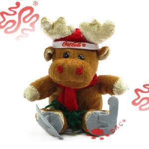 China Christmas Toy Plush Deer (TPJR0278) on sale