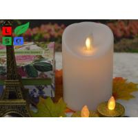 China Remote Controlled Flameless LED Candle Lights , Pillar Flickering LED Commercial Shop Lights on sale