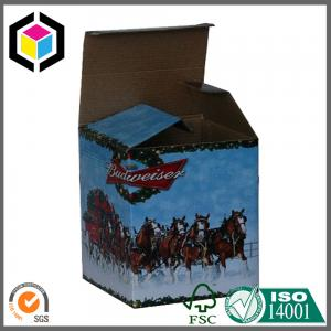 China Matte Beer Bottle Custom Color Design Print Corrugated Packaging Box Manufacturer on sale