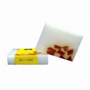 China Bathing Soap, Made of Orange and Aloe, Naturally Handmade on sale