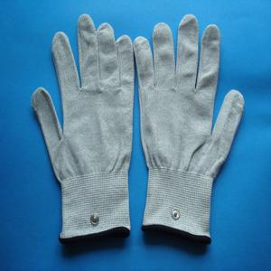China silivery gray massage glove /electrodes medical glove on sale