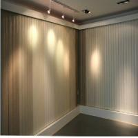 89mm PVC Brown Vertical Window Blinds Waterpoof With Smooth Vane