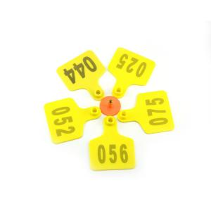 China Farm Equipment Custom Ear Tags / TPU Animal Management UHF RFID Tag on sale