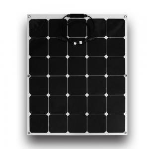 China Black 110 Watt Thin Flexible Solar Panels 90cm MC4 Connectors For Boat on sale