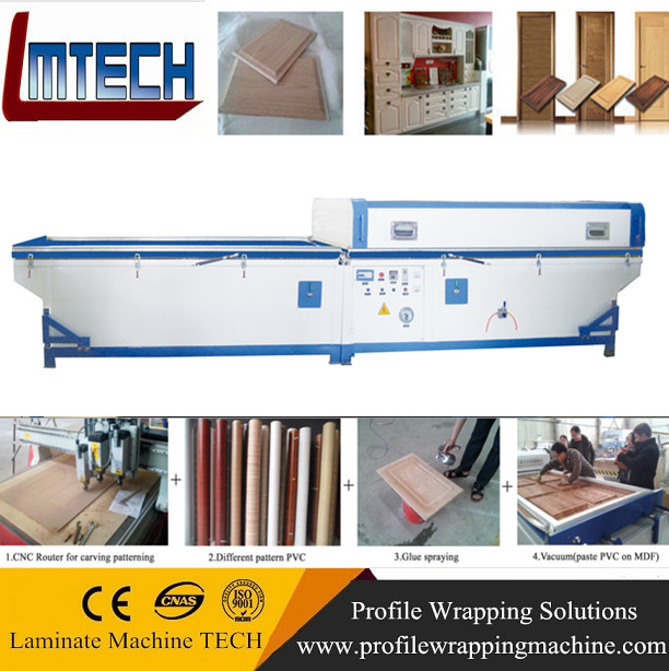 Double Worktable Semi-automatic Vacuum Membrane Press Door skin machine