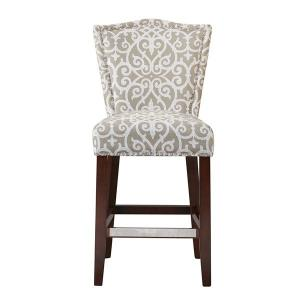 China Patterned Upholstered Counter Height Stools , Counter Stools With Backs  on sale