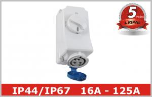 China 220V 380V Electrical Socket Outlets with Industrial Switch Interlock on sale
