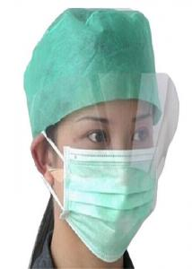 China Chemical Resistant Non Woven Face Mask Dust Proof With Transparent Shield on sale