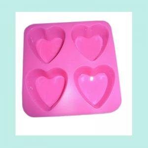 China 6 cavity flower silicone muffin cake molds ,4 cavity heart shape silicone cake molds on sale