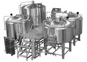 China Manual Or Semi Automatic Beer Brew House Mirror Polishing Beer Making Equipment on sale