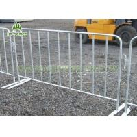 China 1.1m × 2.0m Iron Crowd Control Gates / Crowd Barrier Fencing For Road Pedestrian on sale