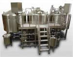 1500L  Mirror Polish Three Vessel Brewhouse With 50mm  PU Insulation And Plc Control